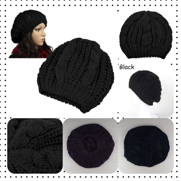 6a80889b51c Accessories - Women Beret Braided Knit Crochet Beanie